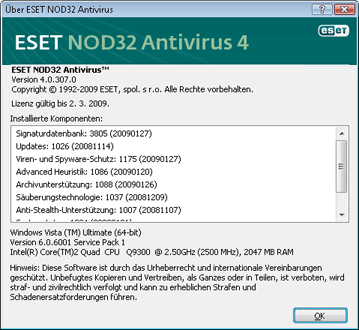 Nod32 ea about Über ESET NOD32 Antivirus