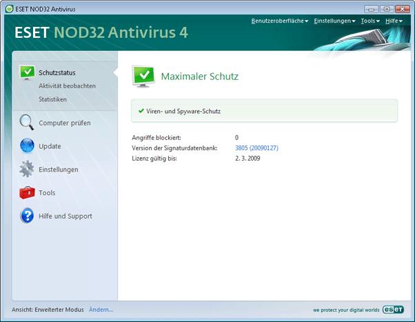 Nod32 ea advanced mode Erweiterter Modus