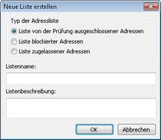 Nod32 ea config epfw new url set Neue Liste erstellen