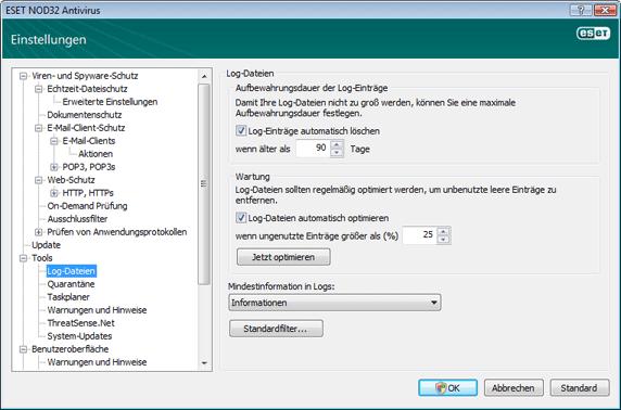 Nod32 ea config logs Log Dateien