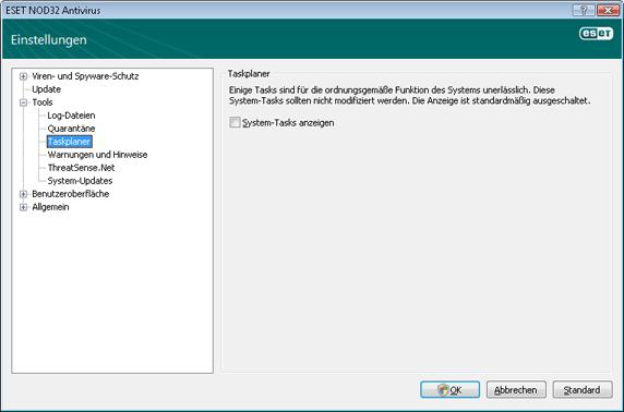 Nod32 ea config scheduler Taskplaner