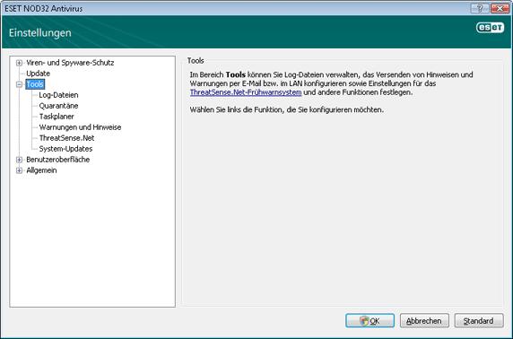 Nod32 ea config tools Extras