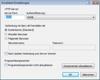 Nod32 ea config update mirror advance Aktualisieren über Update Mirror
