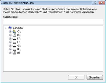 Nod32 ea exclude Ausschlussfilter hinzufügen oder bearbeiten