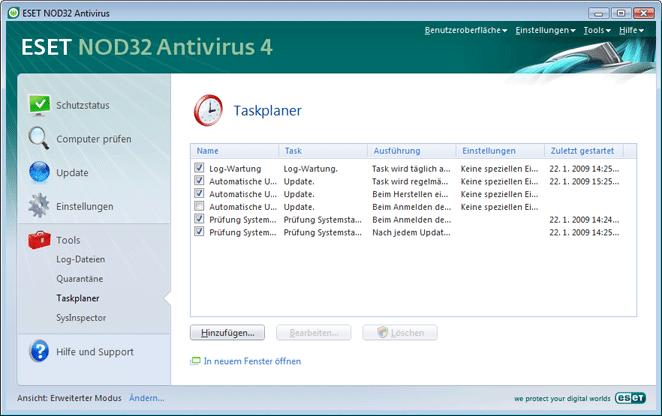 Nod32 ea page scheduler Taskplaner