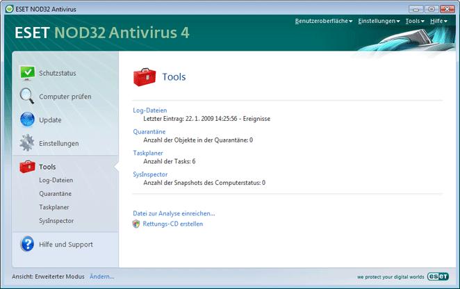 Nod32 ea page tools Tools
