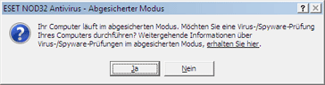 Nod32 ea safemode Abgesicherter Modus