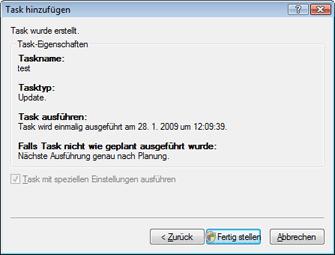 Nod32 ea scheduler finish Task hinzufügen – Fertig stellen