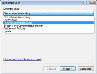 Nod32 ea scheduler task Erstellen von Tasks