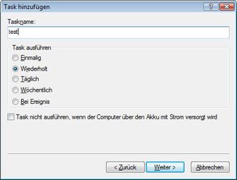 Nod32 ea scheduler type Task hinzufügen – Tasktyp