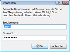 Nod32 ea settings update username Lizenzdaten