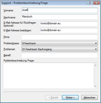 Nod32 ea support request Fehlerbehebung