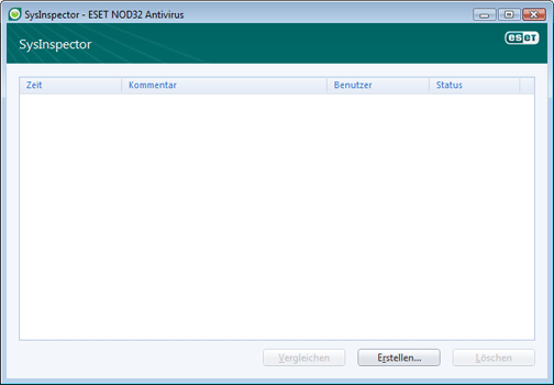 Nod32 ea sysinspector window ESET SysInspector – Neues Fenster