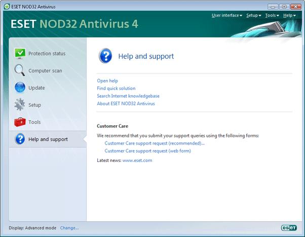 Nod32 ea advanced mode Advanced mode