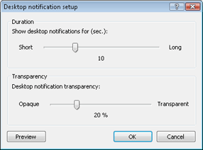 Nod32 ea config desktop Desktop notifications setup