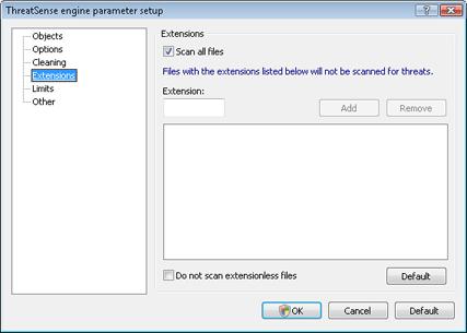 Nod32 ea config extension Extension