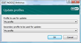 Nod32 ea config update sched Update profiles