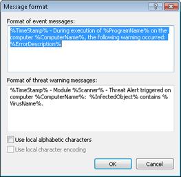 Nod32 ea format notice Message format