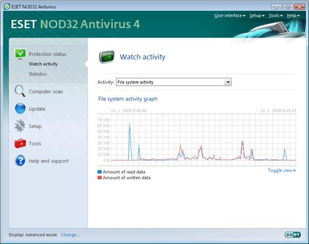 Nod32 ea page activity Watch activity
