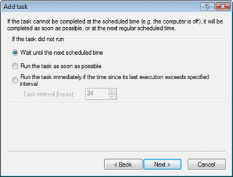 Nod32 ea scheduler notstart Add task   if task did not run
