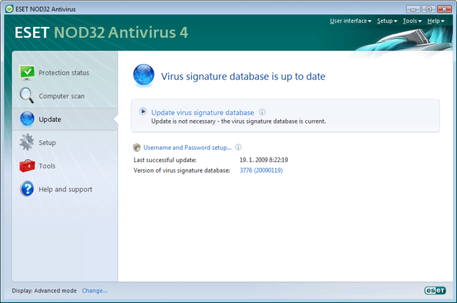 Nod32 ea update main Update setup