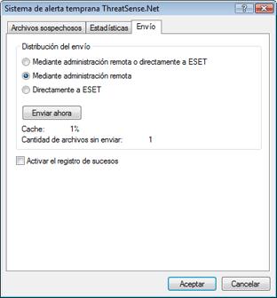 Nod32 ea charon send Envío de archivos