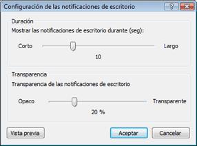 Nod32 ea config desktop Configuración de notificaciones de escritorio
