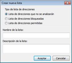 Nod32 ea config epfw new url set Crear nueva lista