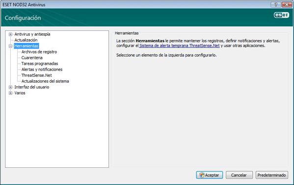 Nod32 ea config tools Herramientas