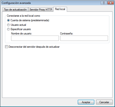 Nod32 ea config update lan Conexión de acceso a red local