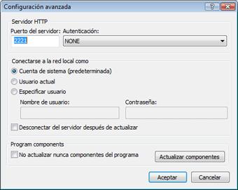Nod32 ea config update mirror advance Actualización desde la imagen