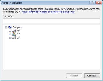 Nod32 ea exclude Agregar o editar exclusiones