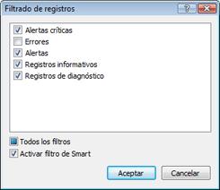 Nod32 ea log filter Filtrado de registros
