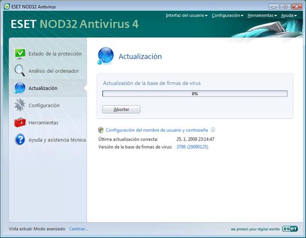 Nod32 ea page update 02 Actualización