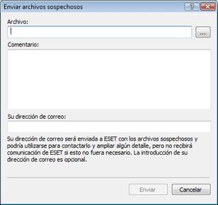 Nod32 ea quarantine charon Configuración del envío de archivos sospechosos