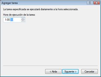 Nod32 ea scheduler daily Agregar tarea: diariamente