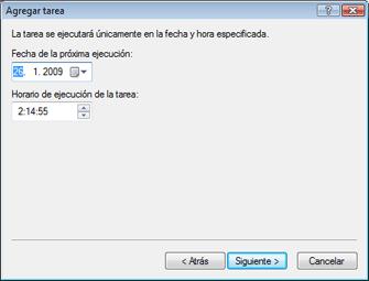 Nod32 ea scheduler once Agregar tarea: una vez