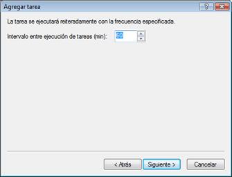 Nod32 ea scheduler repeat Agregar tarea: reiteradamente