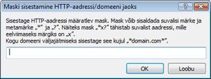 Nod32 ea config epfw url set manager HTTP aadresside/maskide loendid