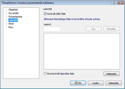 Nod32 ea config extension Laiendus