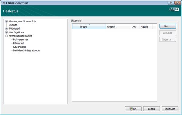Nod32 ea config license Litsents