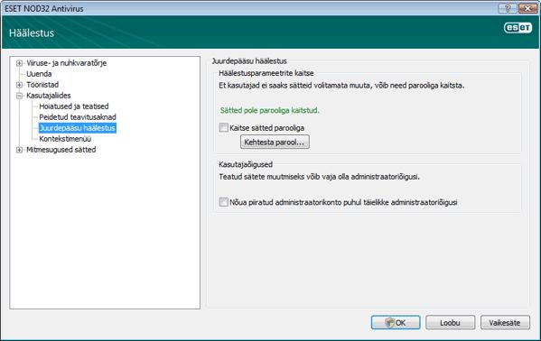 Nod32 ea config password Sätete kaitsmine