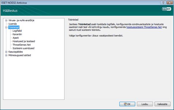 Nod32 ea config tools Tööriistad