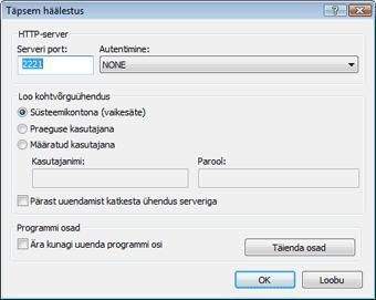 Nod32 ea config update mirror advance Täpsem häälestus