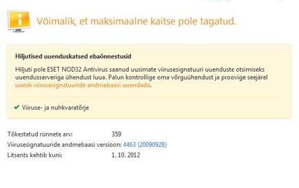 Nod32 ea page update 05 Värskenda