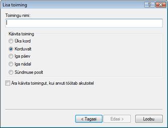 Nod32 ea scheduler type Lisa toiming – toimingu tüüp