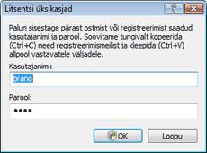 Nod32 ea settings update username Kasutajanime ja parooli sisestamine
