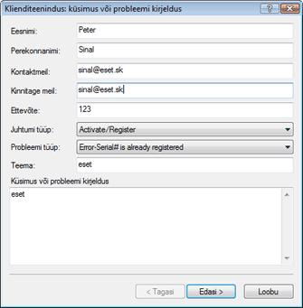 Nod32 ea support request Tõrkeotsing