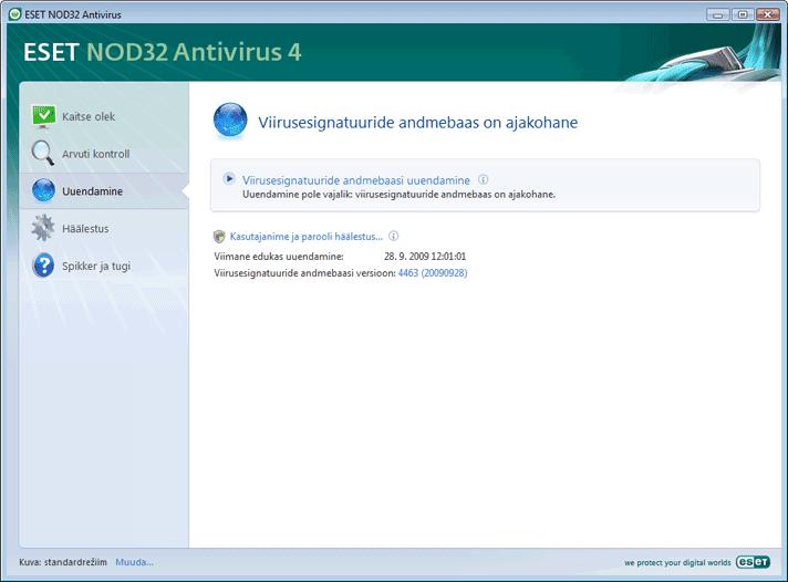 Nod32 ea update main Värskenda