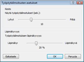 Nod32 ea config desktop Työpöytäilmoitusten asetukset